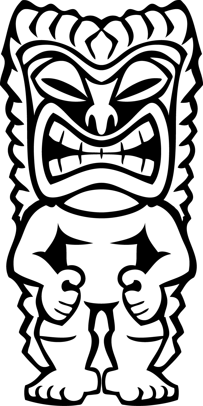 svg Fiesta clipart black and white. Hawaiian tiki clip art