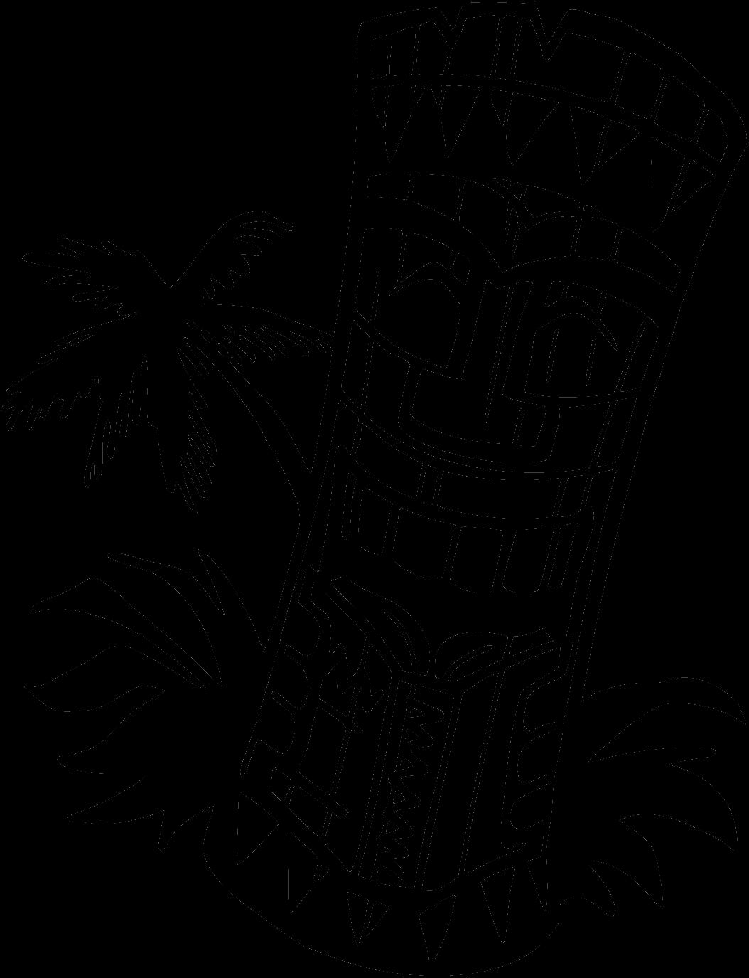 banner royalty free download Hawaiian clip art black. Tiki clipart