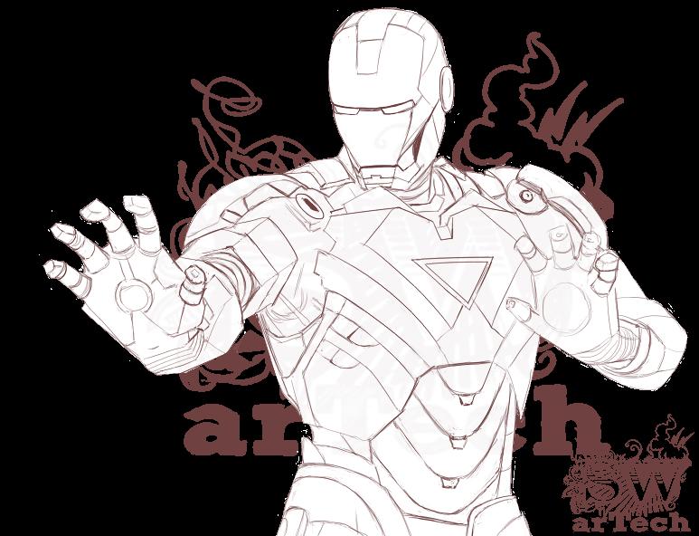 jpg stock timelapse drawing iron man #104868727