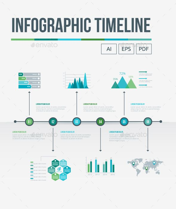 jpg transparent library Vector chart timeline. Infographic infographics