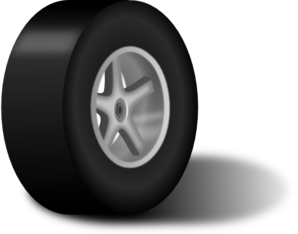 vector library Tire With Rim Clip Art at Clker