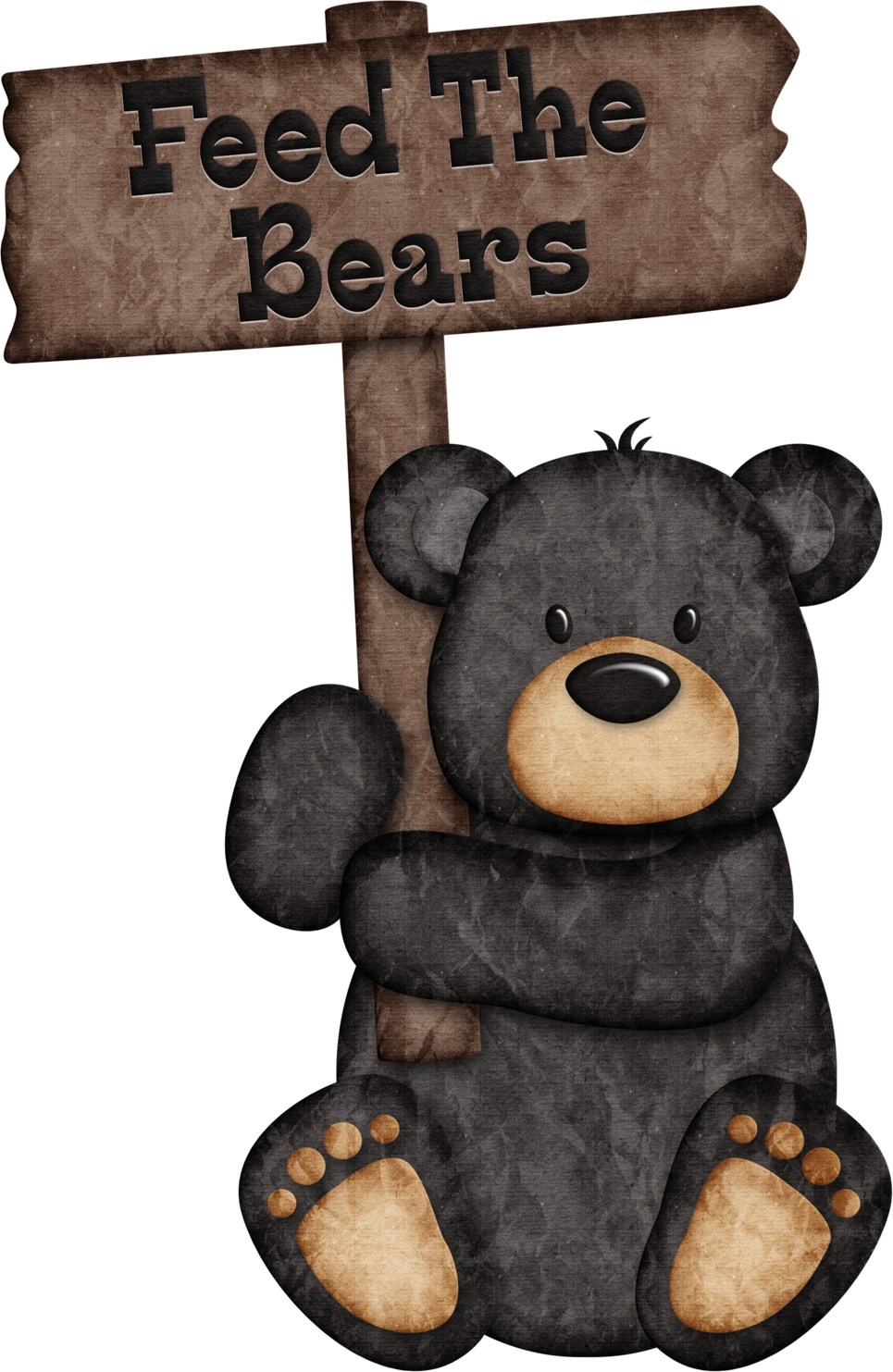 graphic royalty free download Feed the bears christine. Black bear clipart