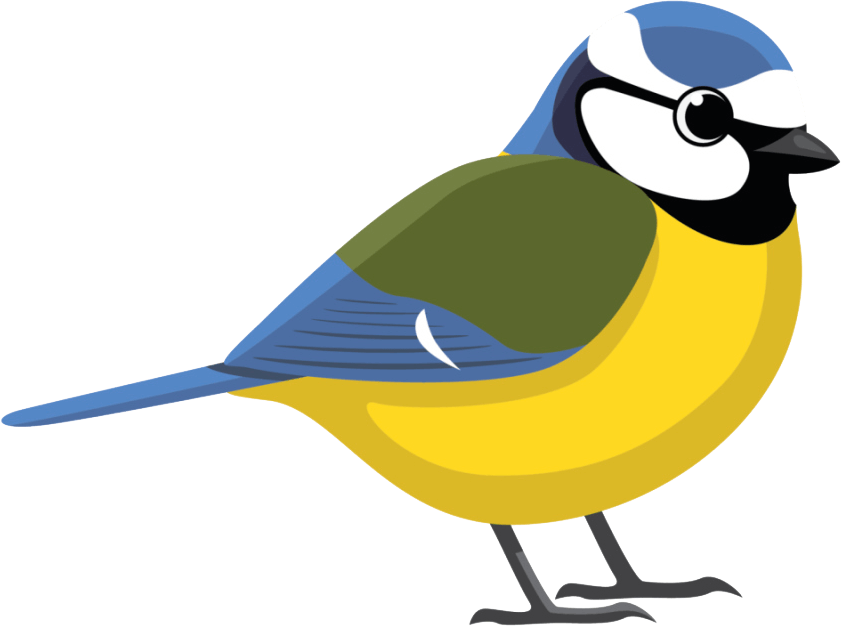 clipart transparent download Tit clip. Blue facing right family