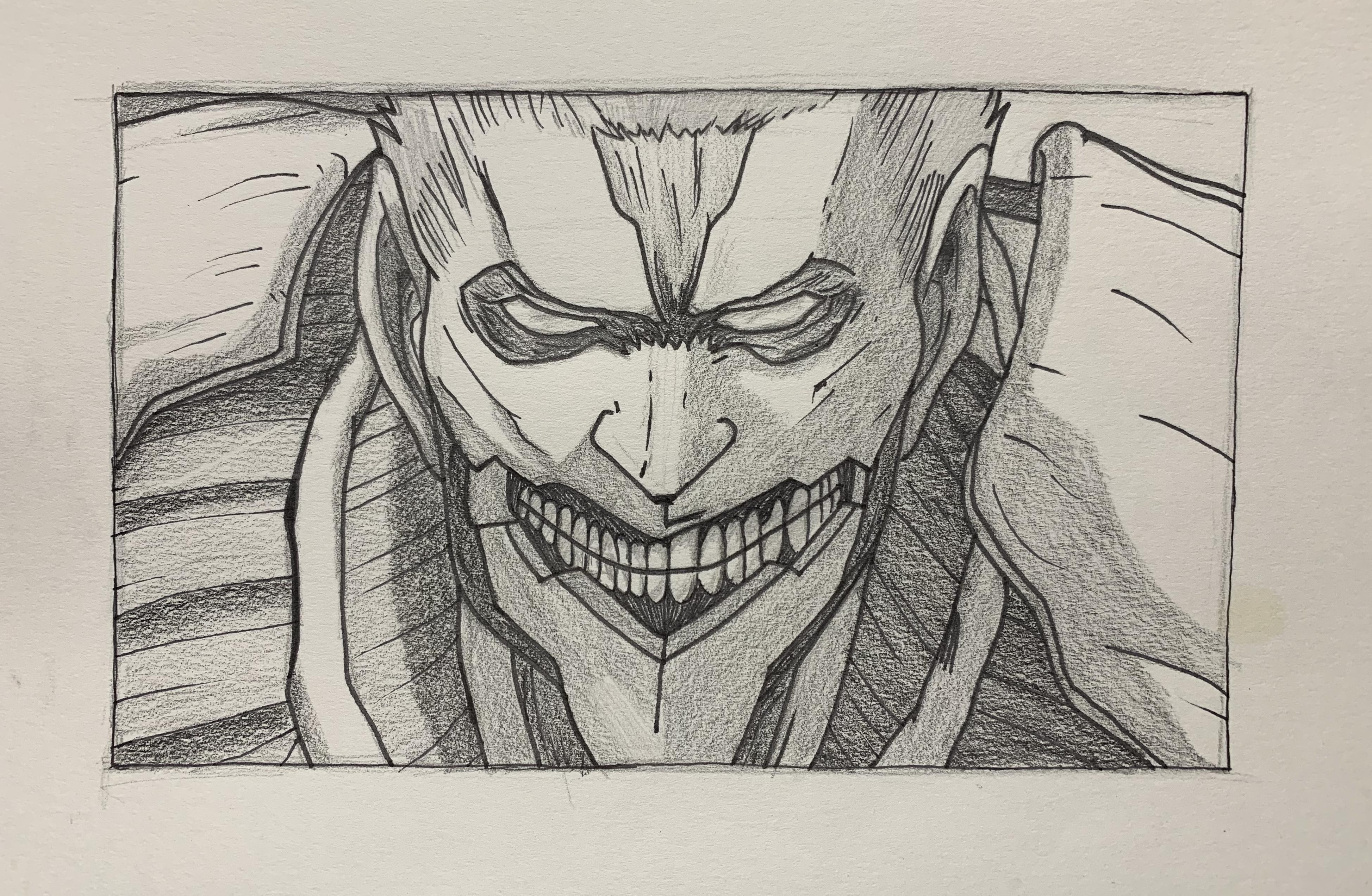 image black and white First of the armored. Titan drawing