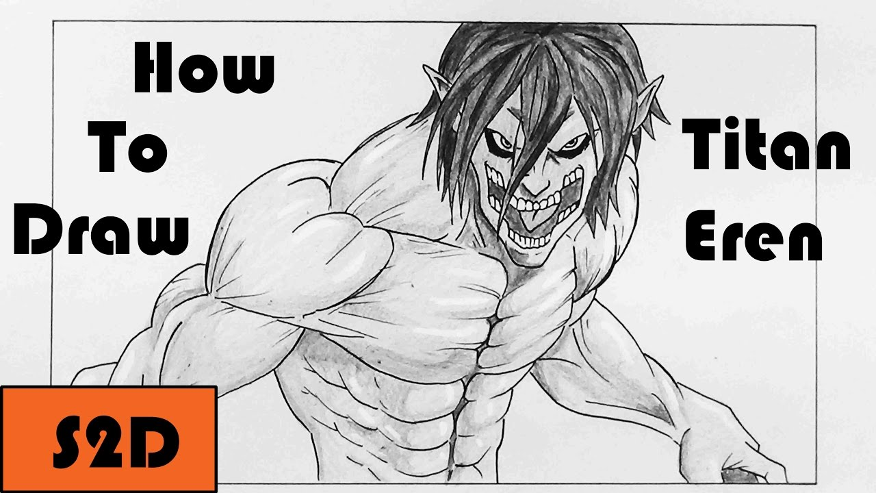jpg library download Titan drawing. How to draw eren