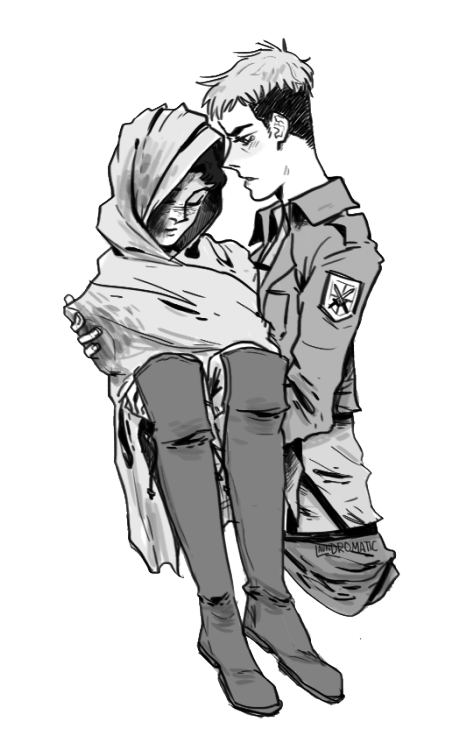 picture black and white Mine queue fanart snk. Titan drawing