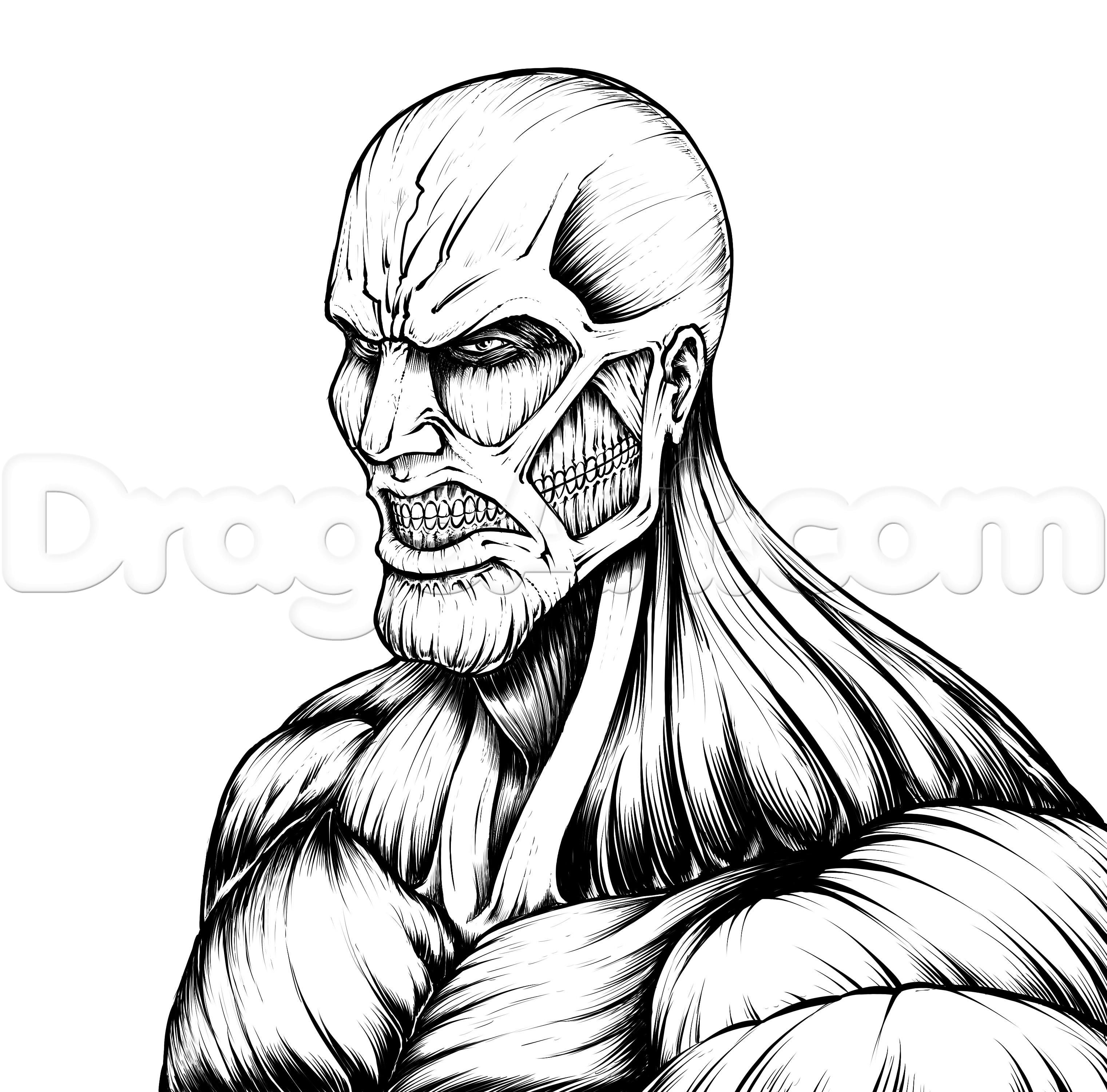picture black and white stock Titan drawing. How to draw the