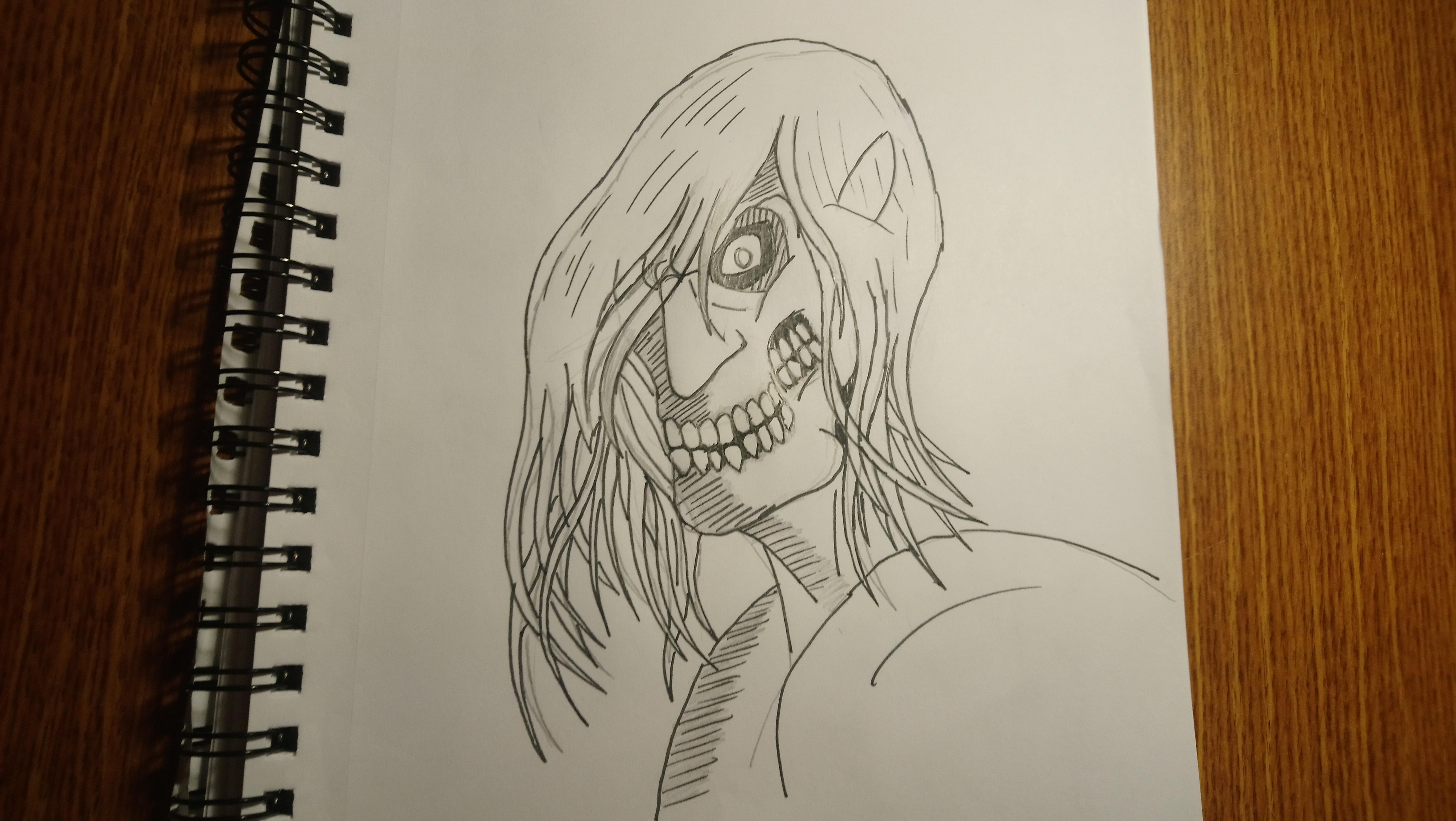free stock Titan drawing. Art rogue shingekinokyojin