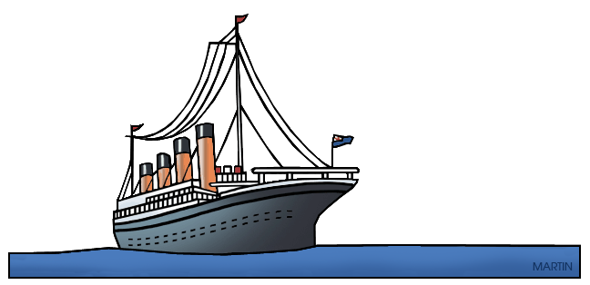 free library Titanic clipart
