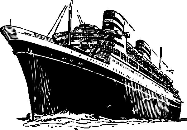 graphic transparent library Ocean liner clip art. Titanic clipart vector