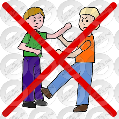 image royalty free stock Do Not Fight Picture for Classroom