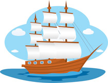 banner library stock Yacht clipart wooden sailboat. Free boats and ships
