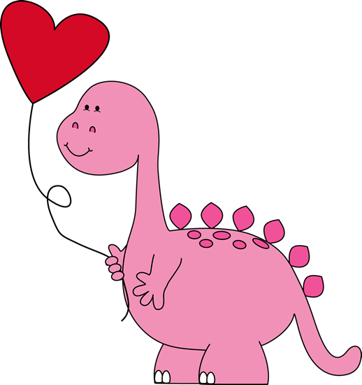 banner library library Dinosaur Valentines Day Clipart