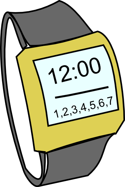 picture freeuse Digital Watch Clipart