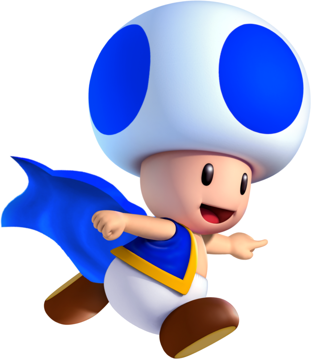 graphic library library Toad mario clipart. Image cape blue smwu