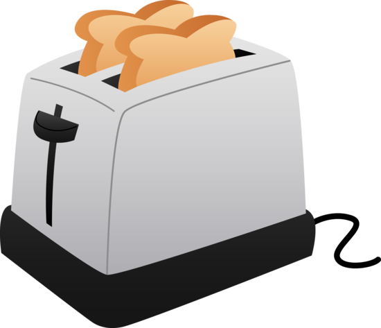 picture black and white library Toast free . Toaster clipart