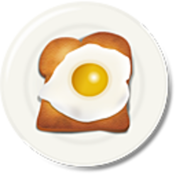 vector royalty free stock Egg breakfast free images. Toast clipart.
