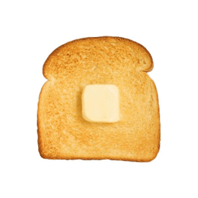 svg black and white Cube of butter on. Toast clipart.