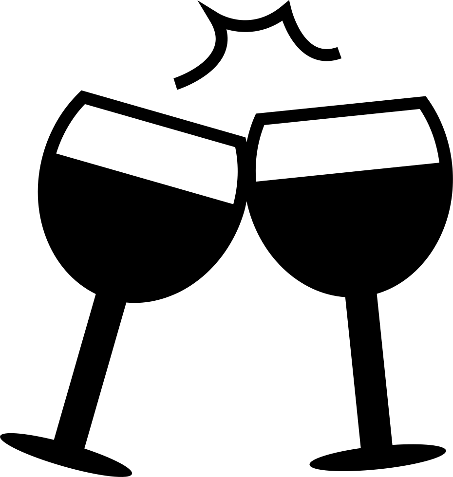 image black and white library Celebration Toast Svg Png Icon Free Download