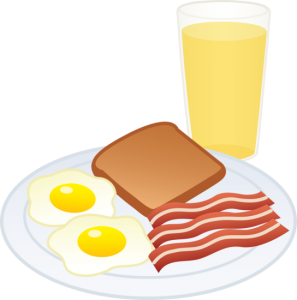 svg black and white Breakfast food eggs bacon. Toast clipart egg.
