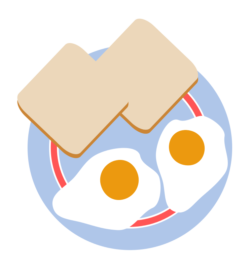 clipart free download Menu hooligan s sports. Toast clipart egg.