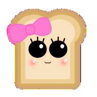 jpg library library Toast clipart kawaii