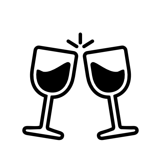 royalty free stock Wine toast icon download. Toaster clipart stock photo