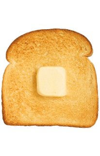 png transparent library Cube Of Butter on Toast transparent PNG