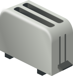 picture black and white Clip art at clker. Toaster clipart