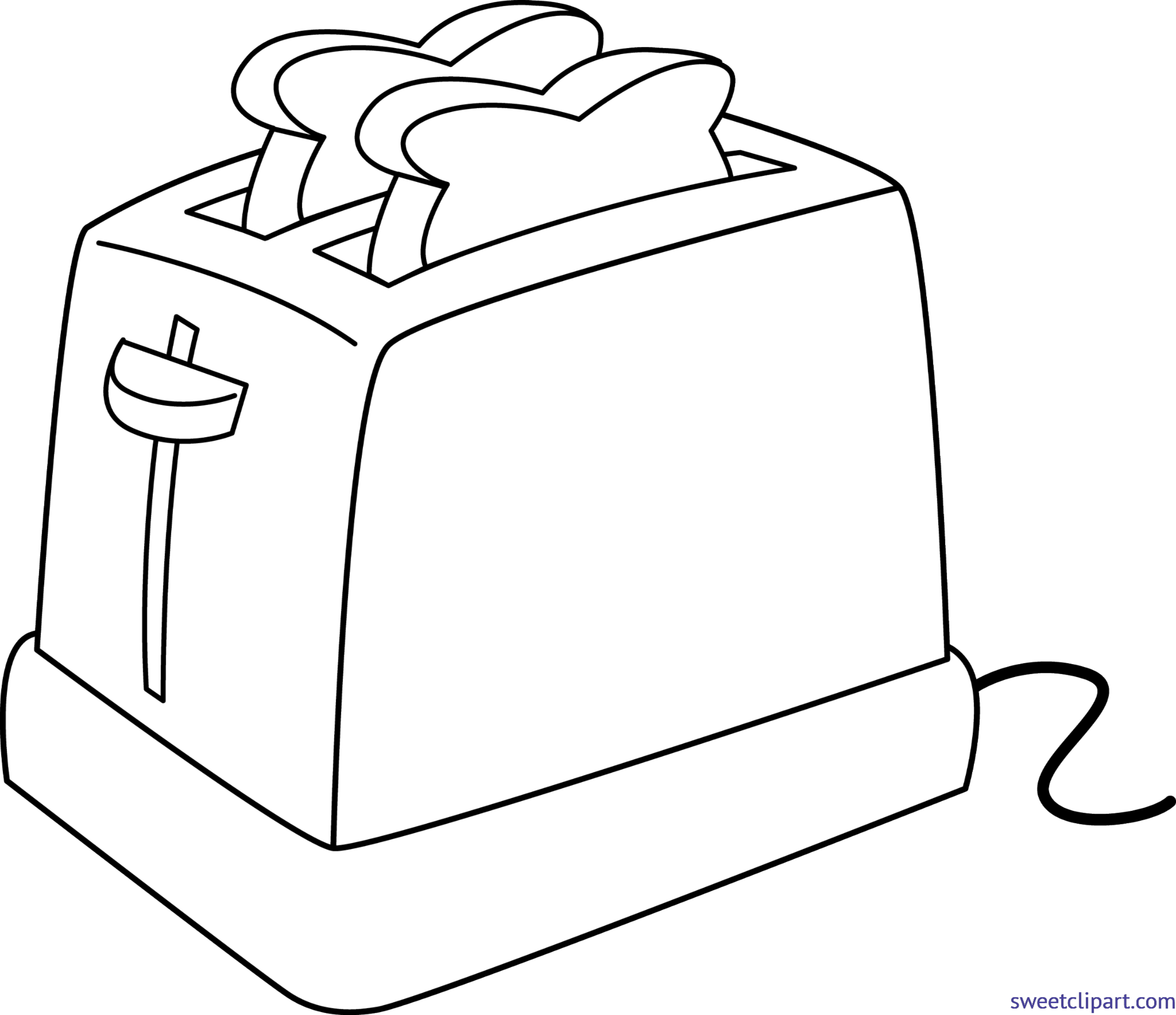 picture free download Lineart clip art sweet. Toaster clipart
