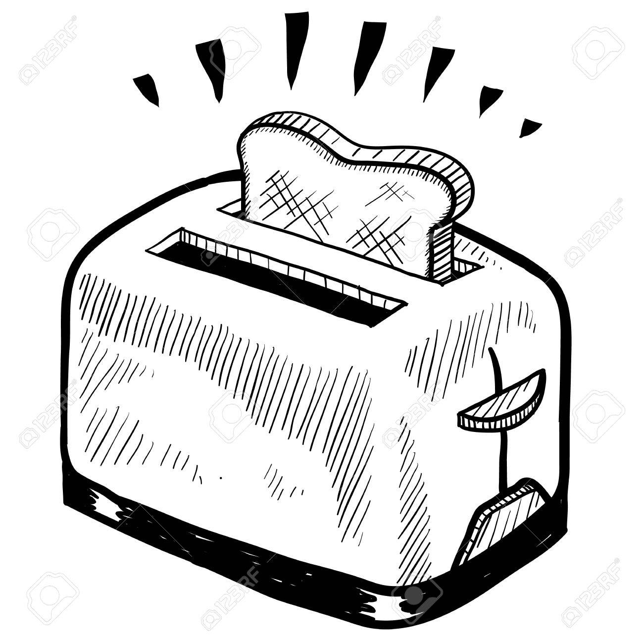 png transparent library Toaster clipart black and white. Portal