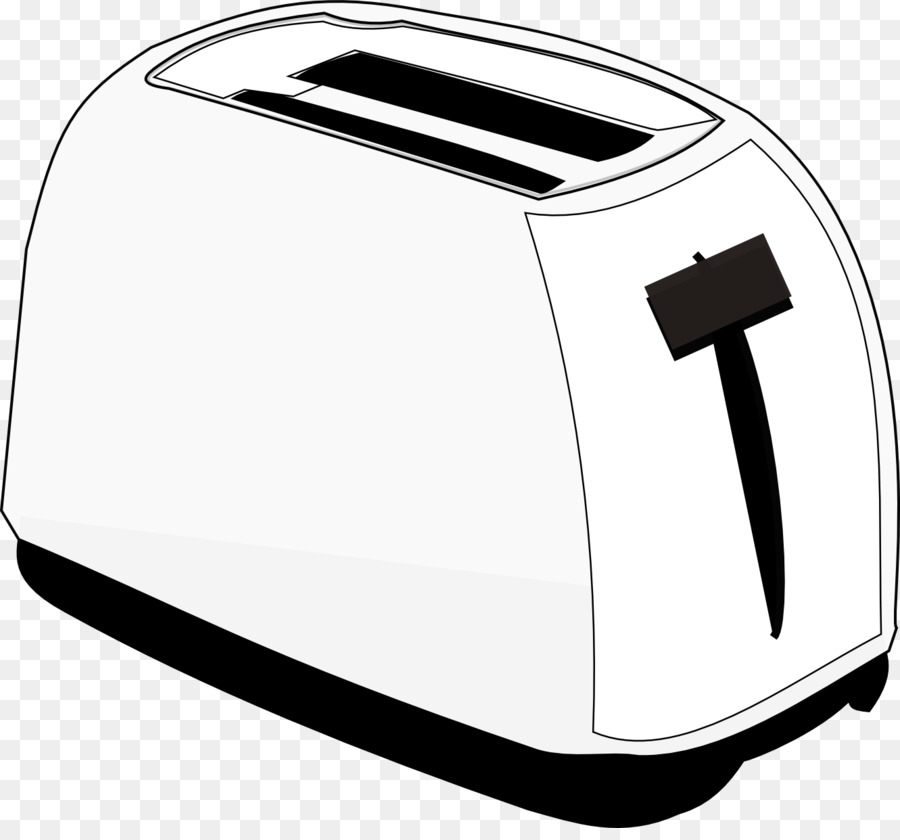 clip download Background product font transparent. Toaster clipart black and white