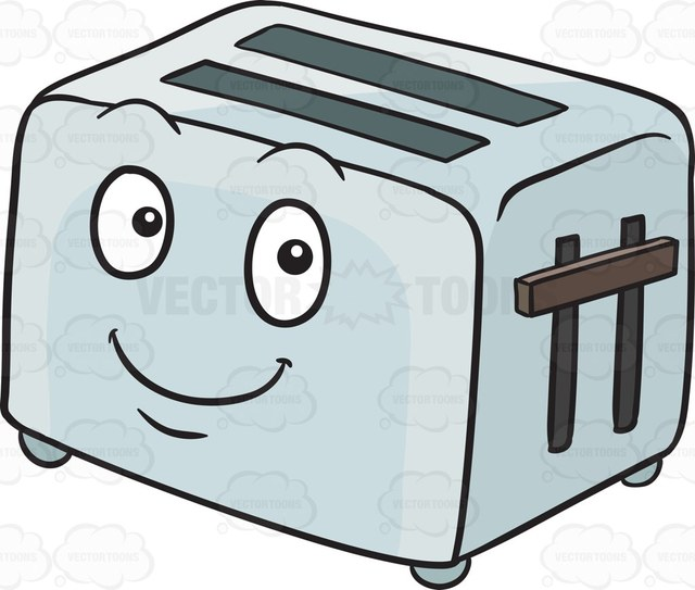 vector black and white download Collection of free download. Toaster clipart cartoon.