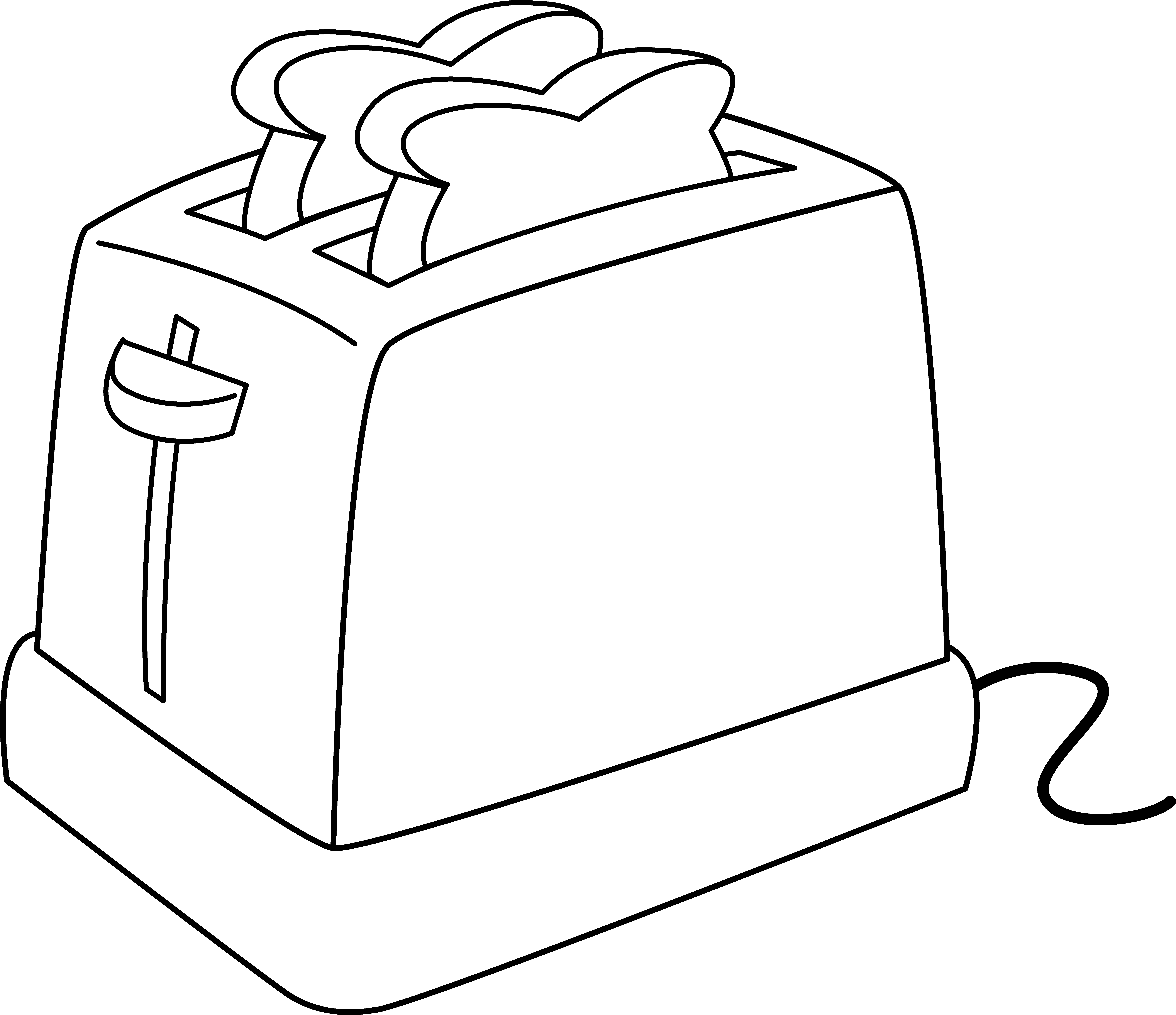 clip free stock Electric line art free. Toaster clipart cartoon.