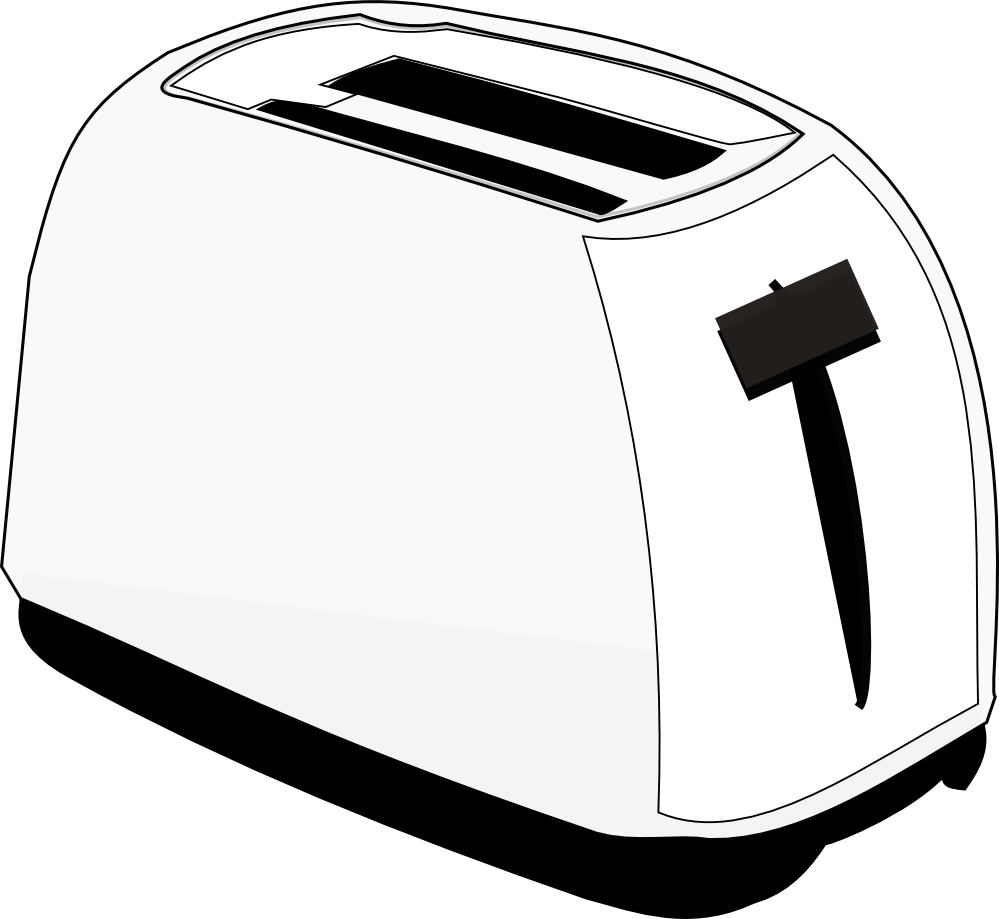 png transparent library Toaster clipart clip art. Clipartist net food black.