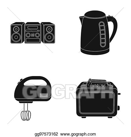 image library library Toaster clipart electric. Drawing kettle music center.