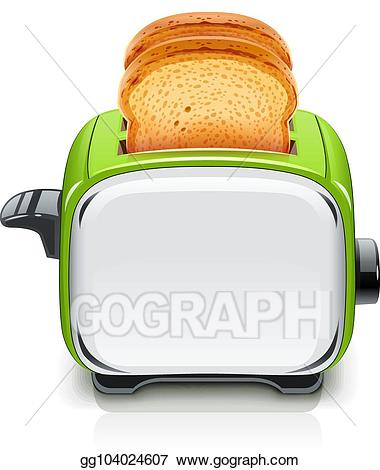png royalty free Toaster clipart electrical appliance. Eps vector green kitchen