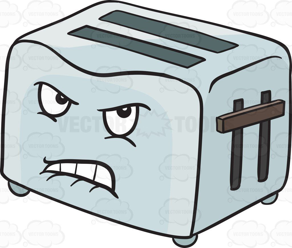 jpg free library Toaster clipart emoji. Disgruntled and angry pop