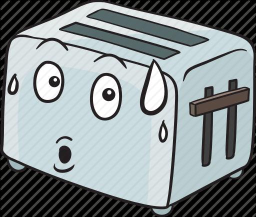 svg freeuse Toaster clipart emoji. Cartoon smileys by vector