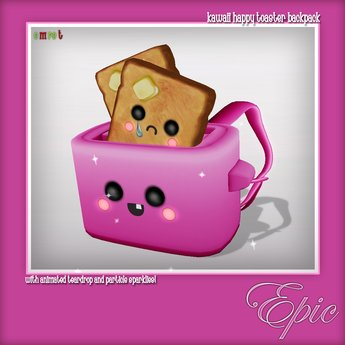 clipart royalty free library Second life marketplace kawaii. Toaster clipart epic