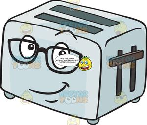clip transparent download Toaster clipart eye. Pop up wearing glasses.