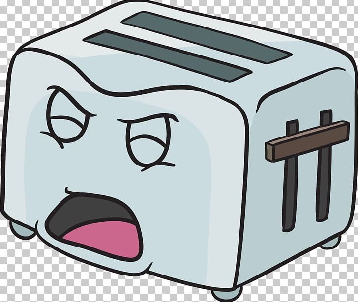 graphic transparent library Cartoon png angle bread. Toaster clipart eye