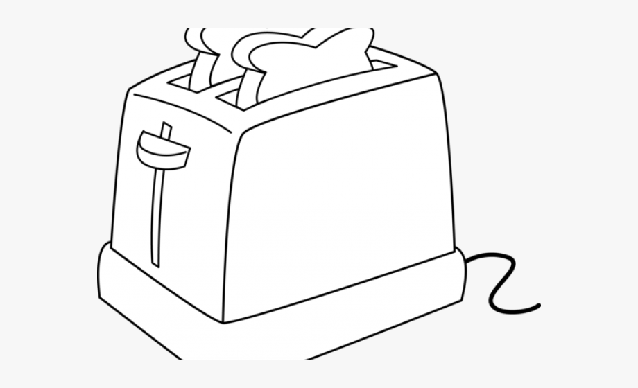svg free download Bread toast clip art. Toaster clipart sketch