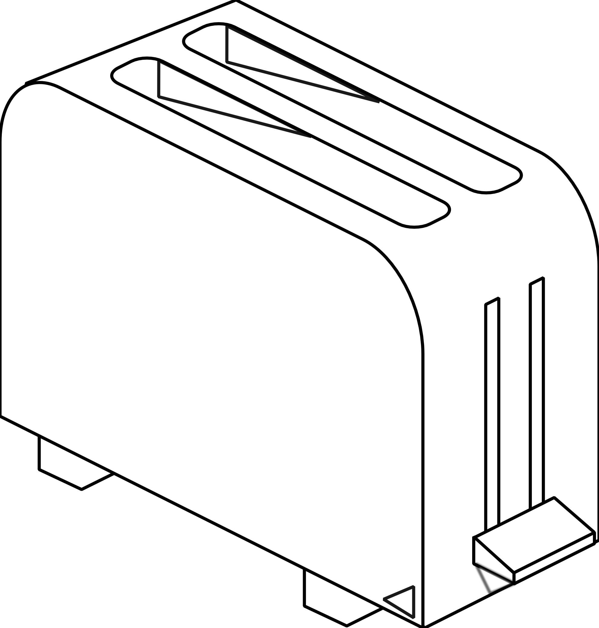 clipart free library Toaster clipart sketch. Black and white coloring