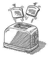clipart download Hot slices of bread. Toaster clipart sketch