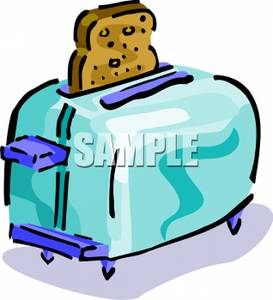 clipart library stock Toaster clipart slice toast. A of in royalty