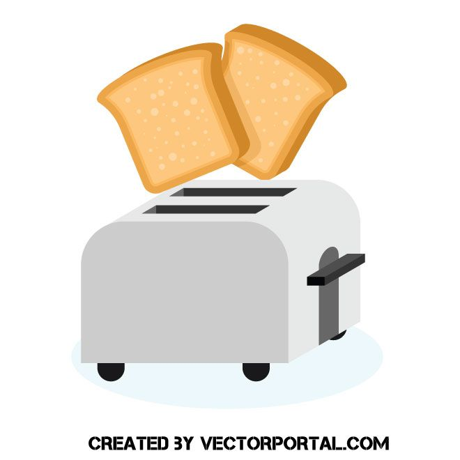 jpg black and white Bread and a vector. Toaster clipart slice toast