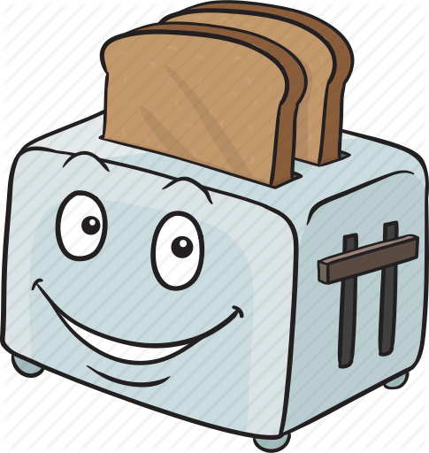 graphic freeuse download Toaster clipart smiley face