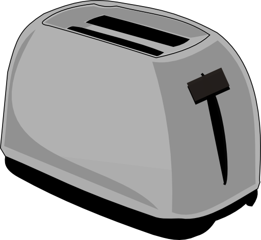 image black and white Toaster clipart svg. I royalty free public