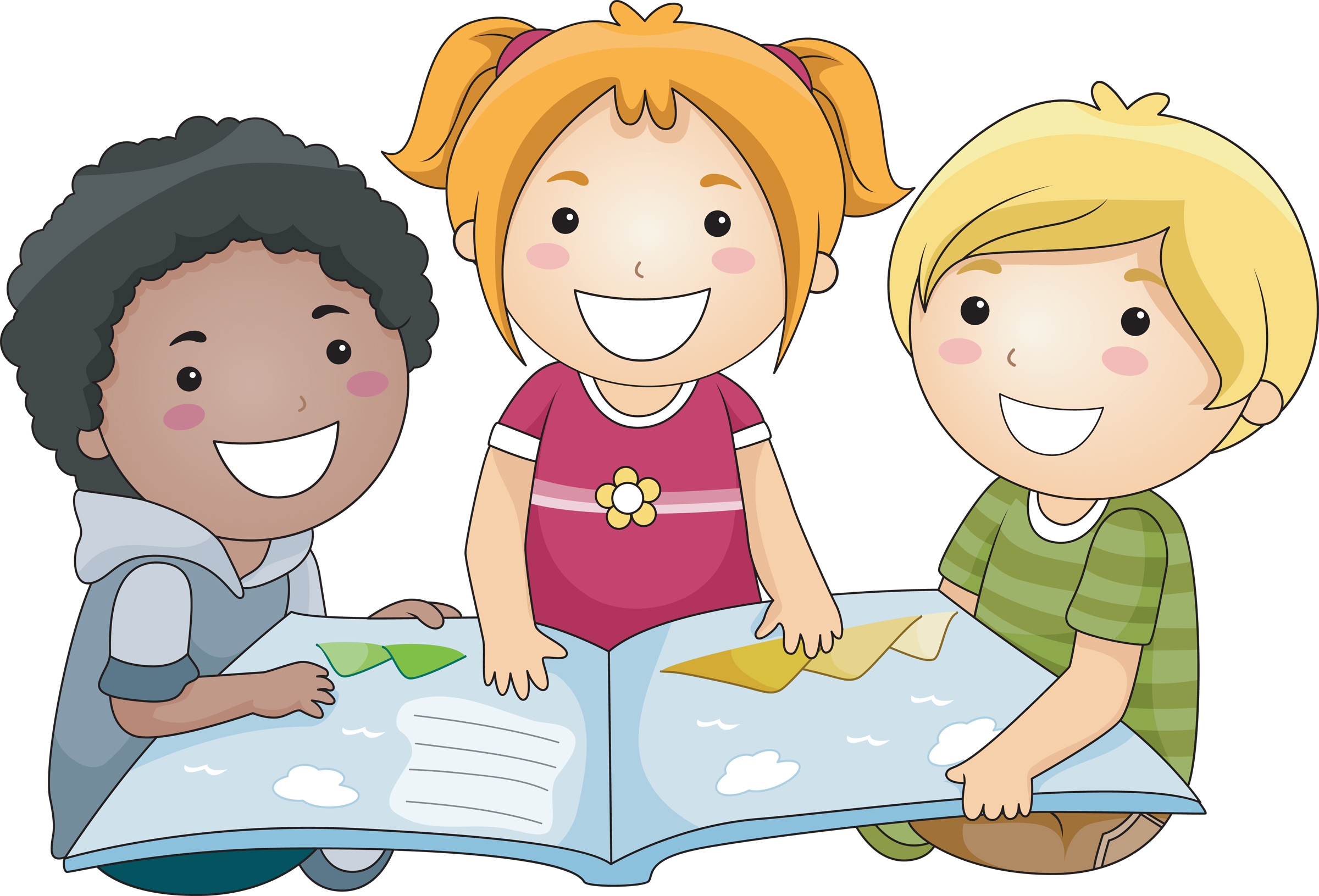 vector transparent library Kid clip art students. Kids reading clipart